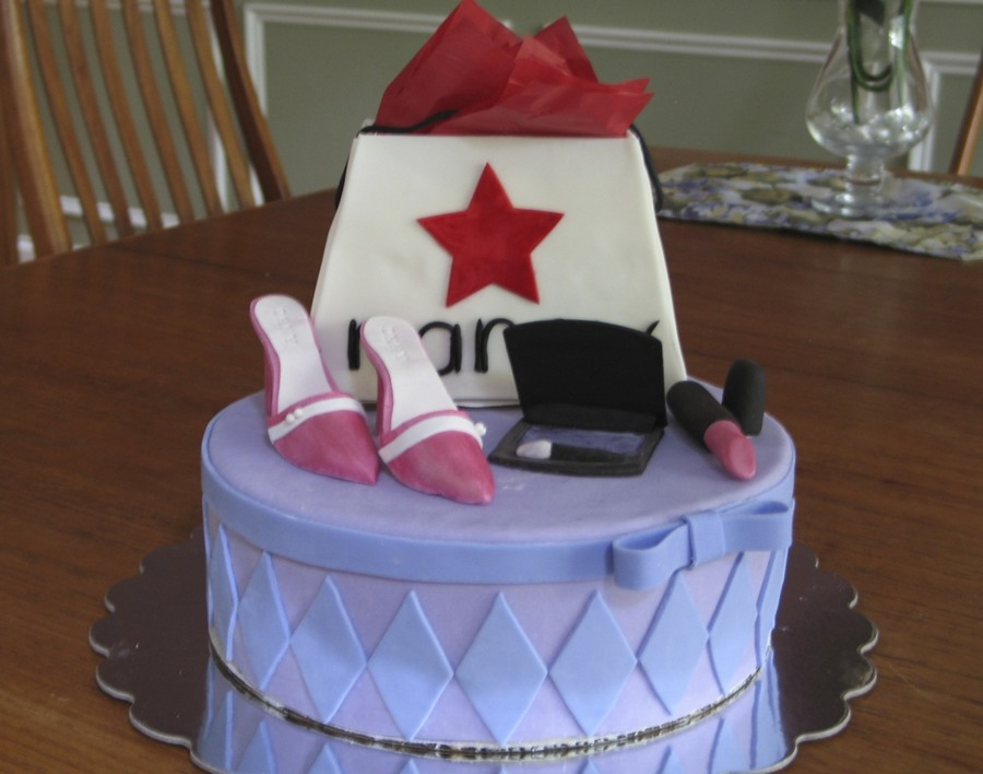 Shopping Themed Birthday Cake on Cake Central