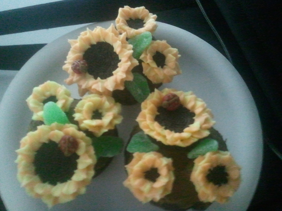 Oreo Sunflower Cuppies Wmampm Ladybugs on Cake Central