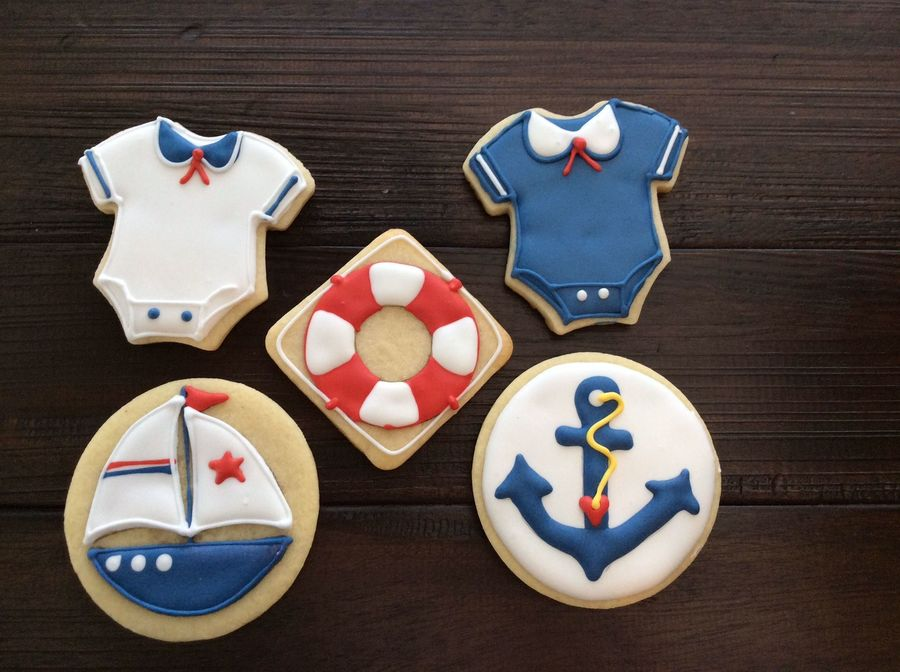 Nautical Themed Baby Shower Cookies Cakecentral Com