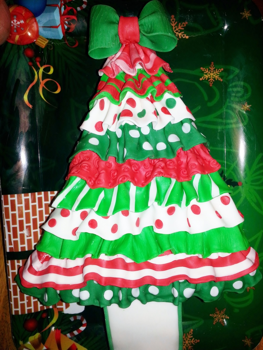 Ribbon Christmas Tree Tutorial By Sugared Lots Of Fun To Make Red Velvet Cake With Cream Cheese Frosting on Cake Central
