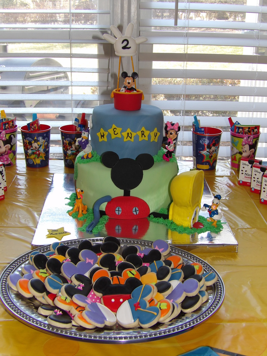 Fine Mickey Mouse Clubhouse Birthday Cake Cakecentral Com Personalised Birthday Cards Veneteletsinfo
