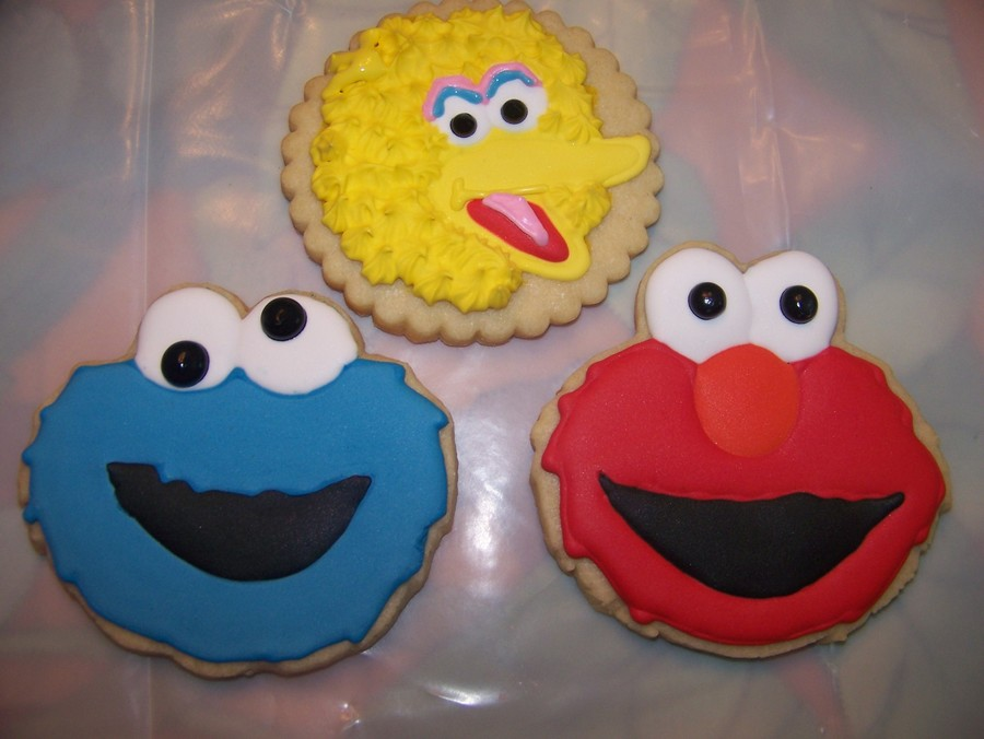 Cookie Monster, Elmo And Big Bird Cookies on Cake Central