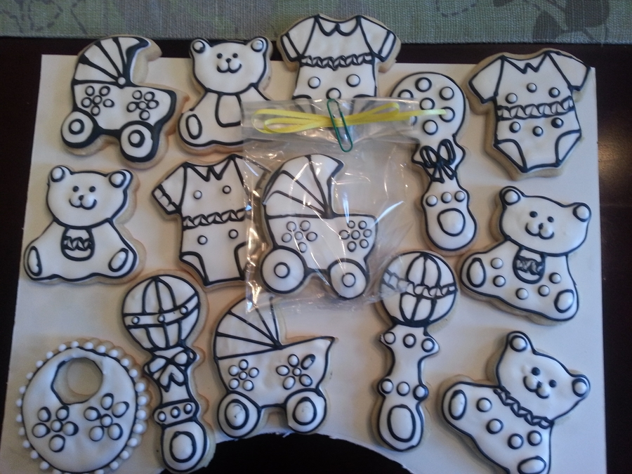Baby Shower Coloring Book Cookies on Cake Central