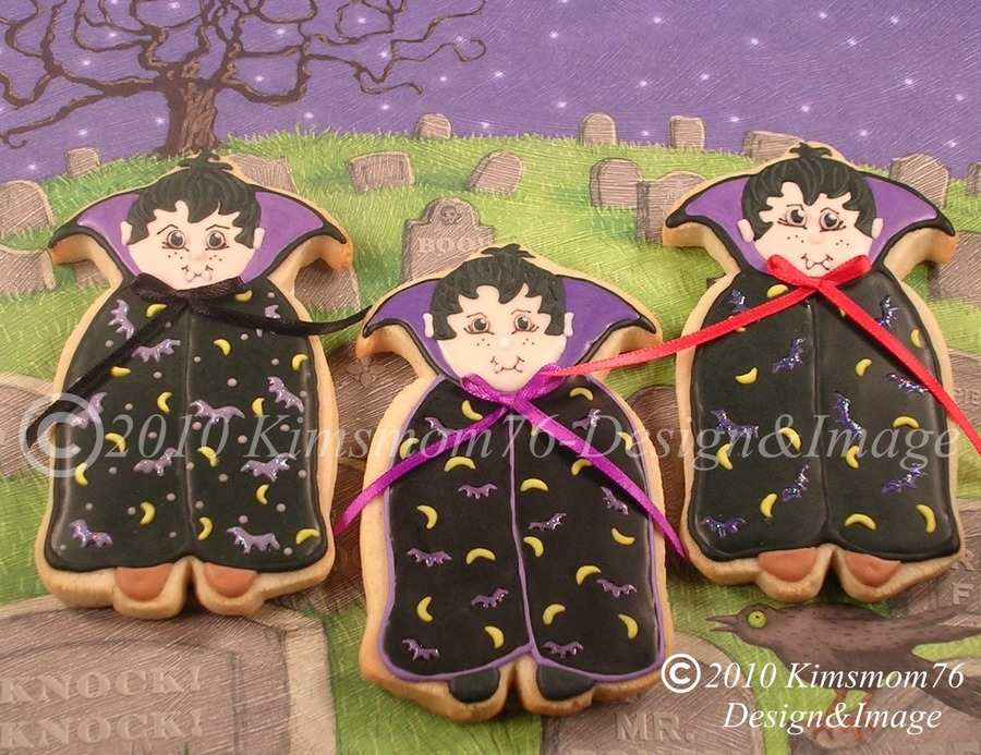 Halloween Vampire Cookies on Cake Central