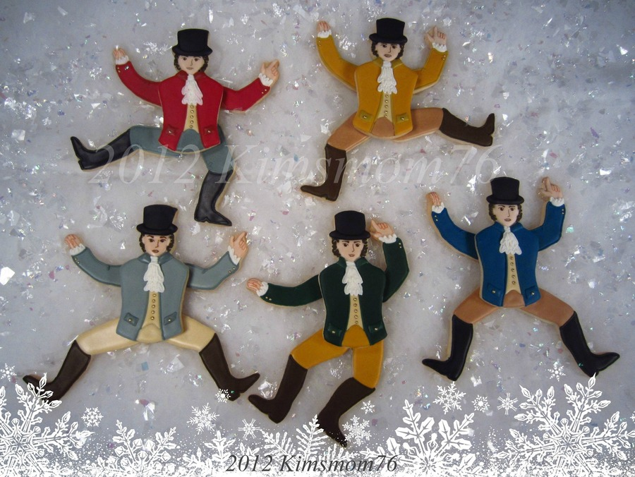 Part Of A Group Effort For The 12 Days Of Christmas I Did The Lords A Leaping I Was Actually Able To Animated Them As Well Hand Cut Nfsc on Cake Central