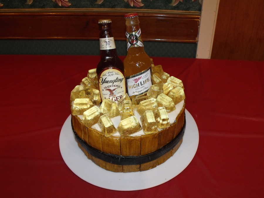 Beer Bottle Wedding Cake on Cake Central