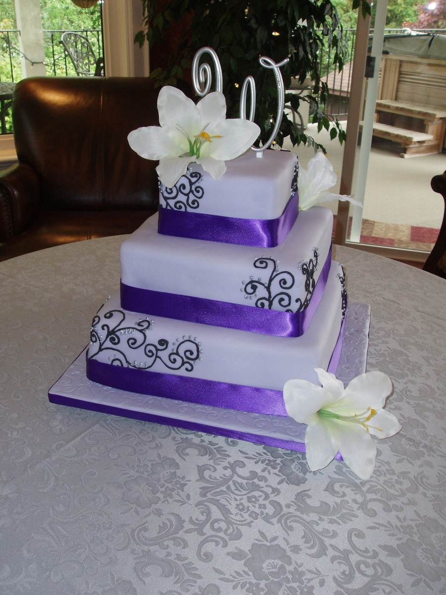 Lavender Wedding Cake On Central