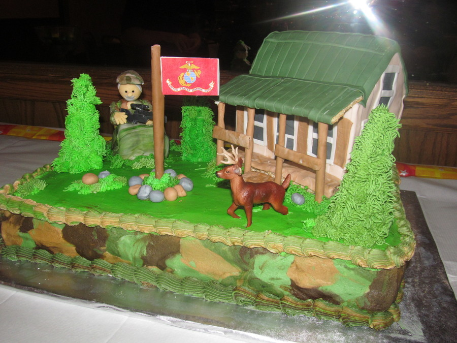 Hunting Theme Retirement Cake on Cake Central