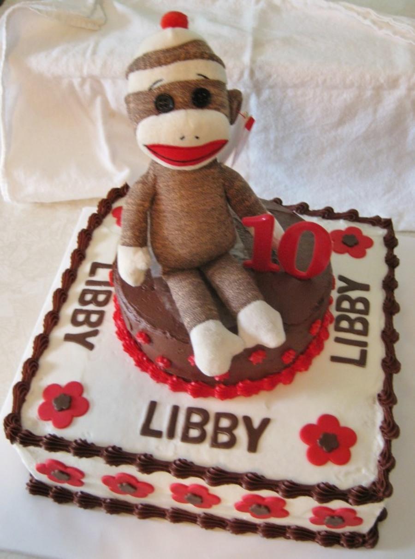 Stupendous Libbys Sock Monkey Cake Cakecentral Com Birthday Cards Printable Giouspongecafe Filternl