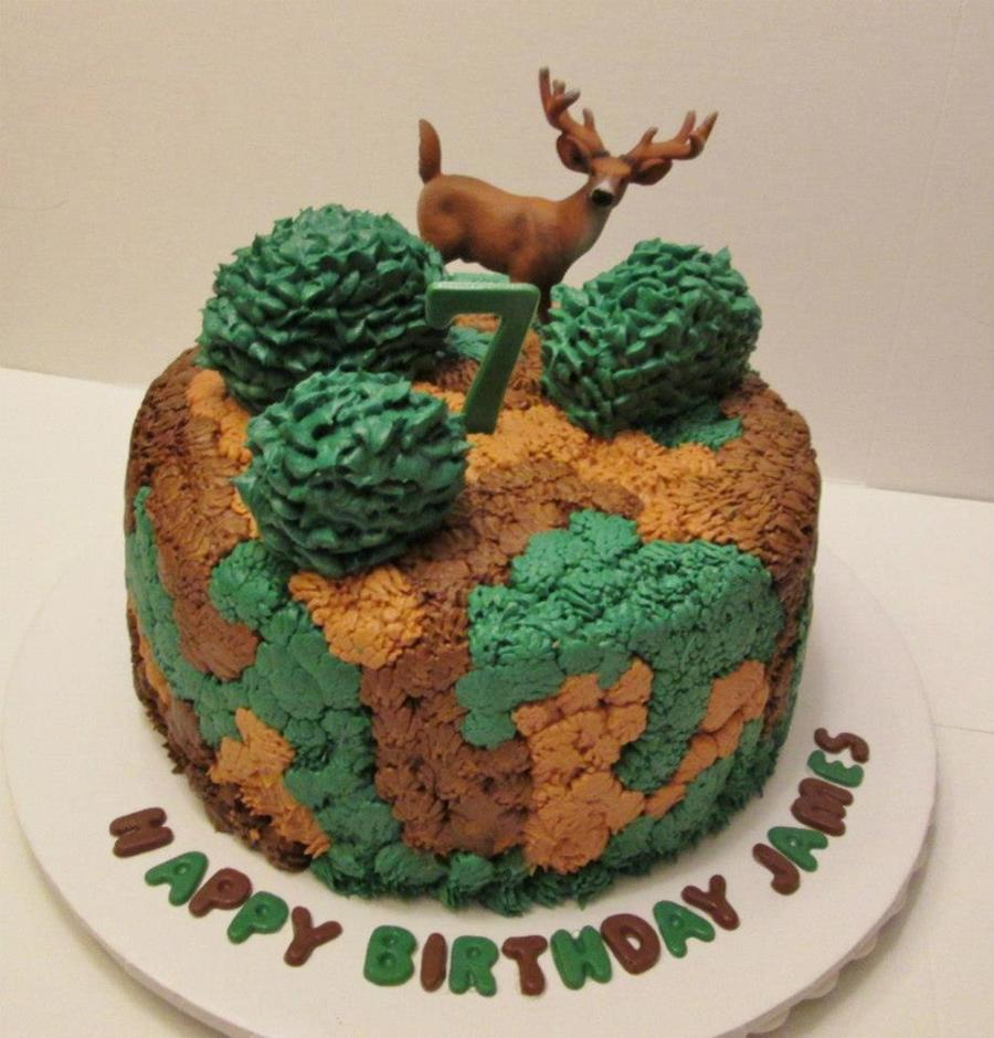 Camo/deer Cake on Cake Central
