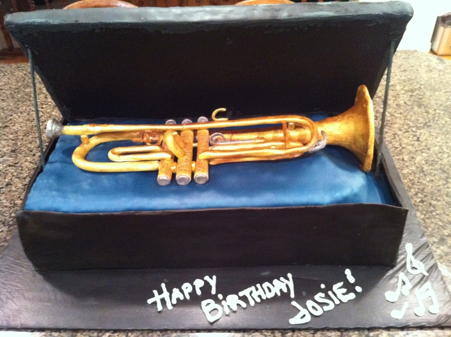 Trumpet Birthday Cake on Cake Central