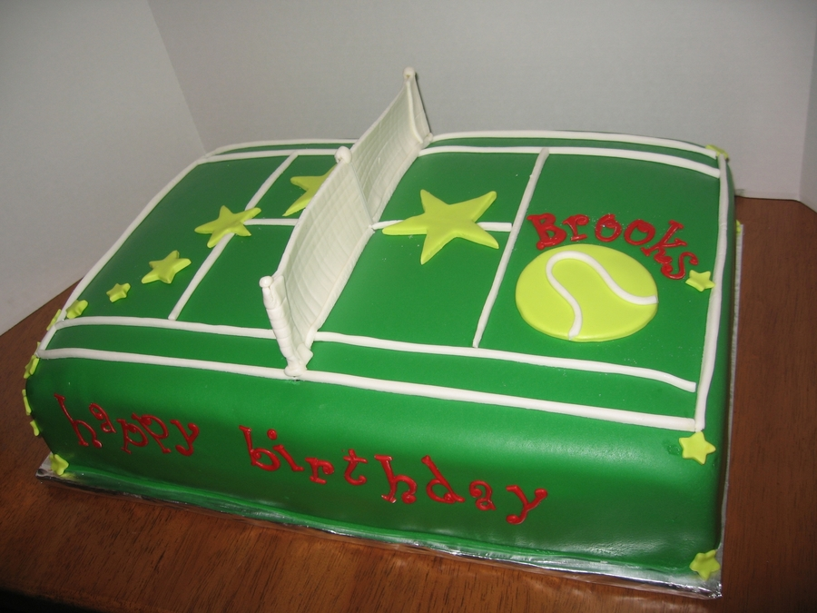 Tennis Star on Cake Central