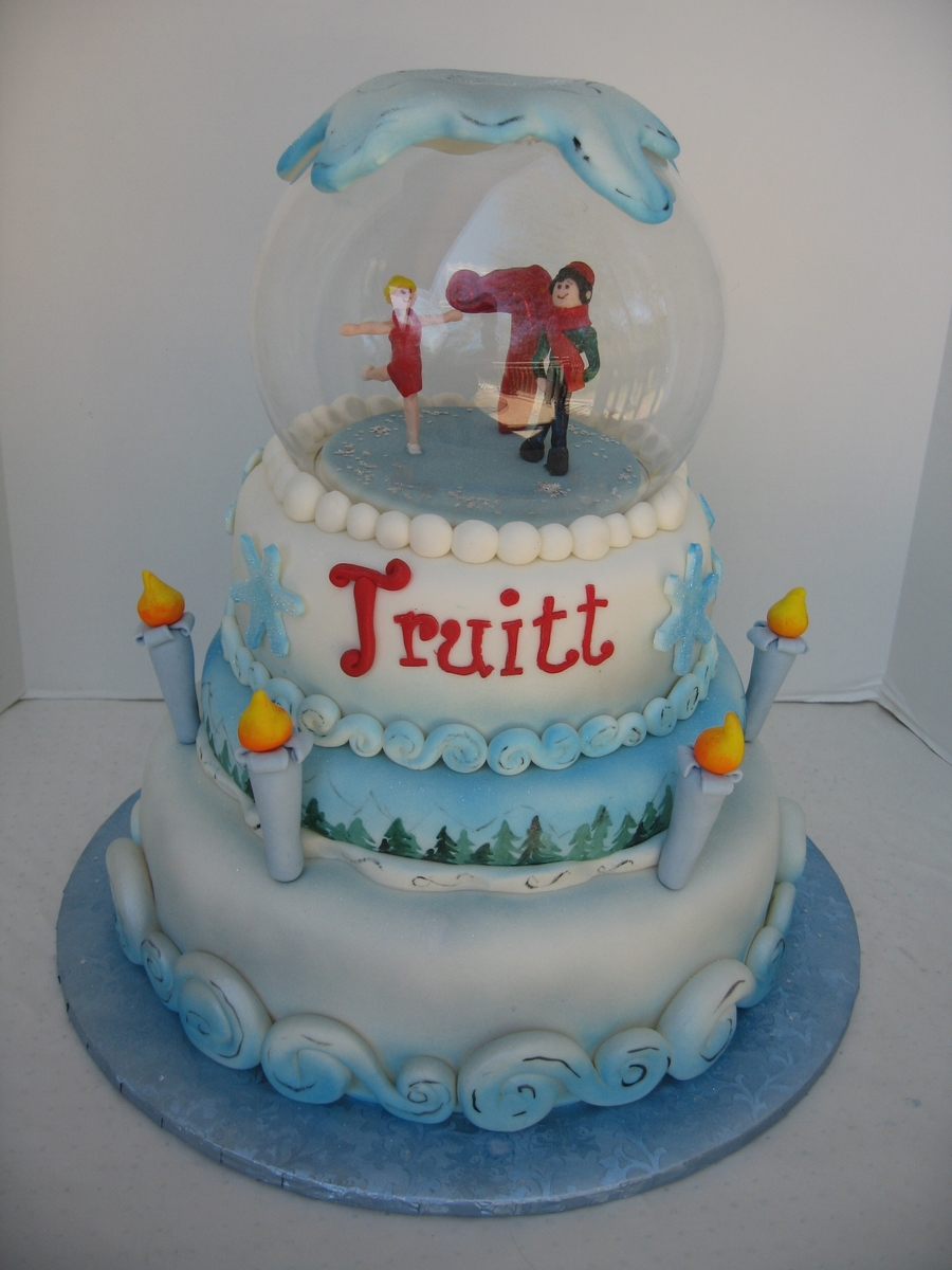Winter Wonderland Snowglobe on Cake Central