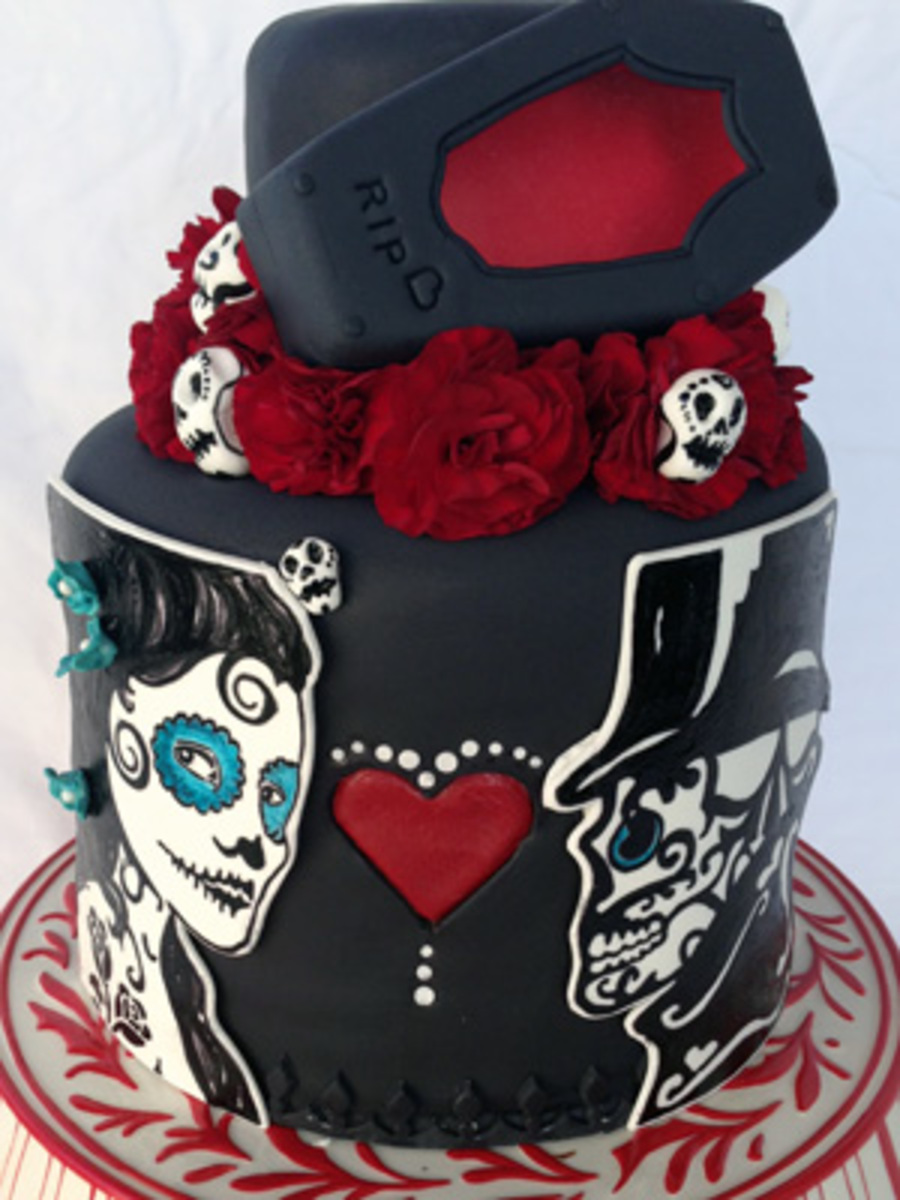 Fantastic Beautiful Wedding Cakes Big Wedding Cakes Near Me Clean Lesbian Wedding Cake Toppers Wedding Cakes Milwaukee Young Wedding Cakes Austin Tx PurpleWhite Almond Wedding Cake Recipe Passion For Cakes   Day Of The Dead Wedding Cake   CakeCentral
