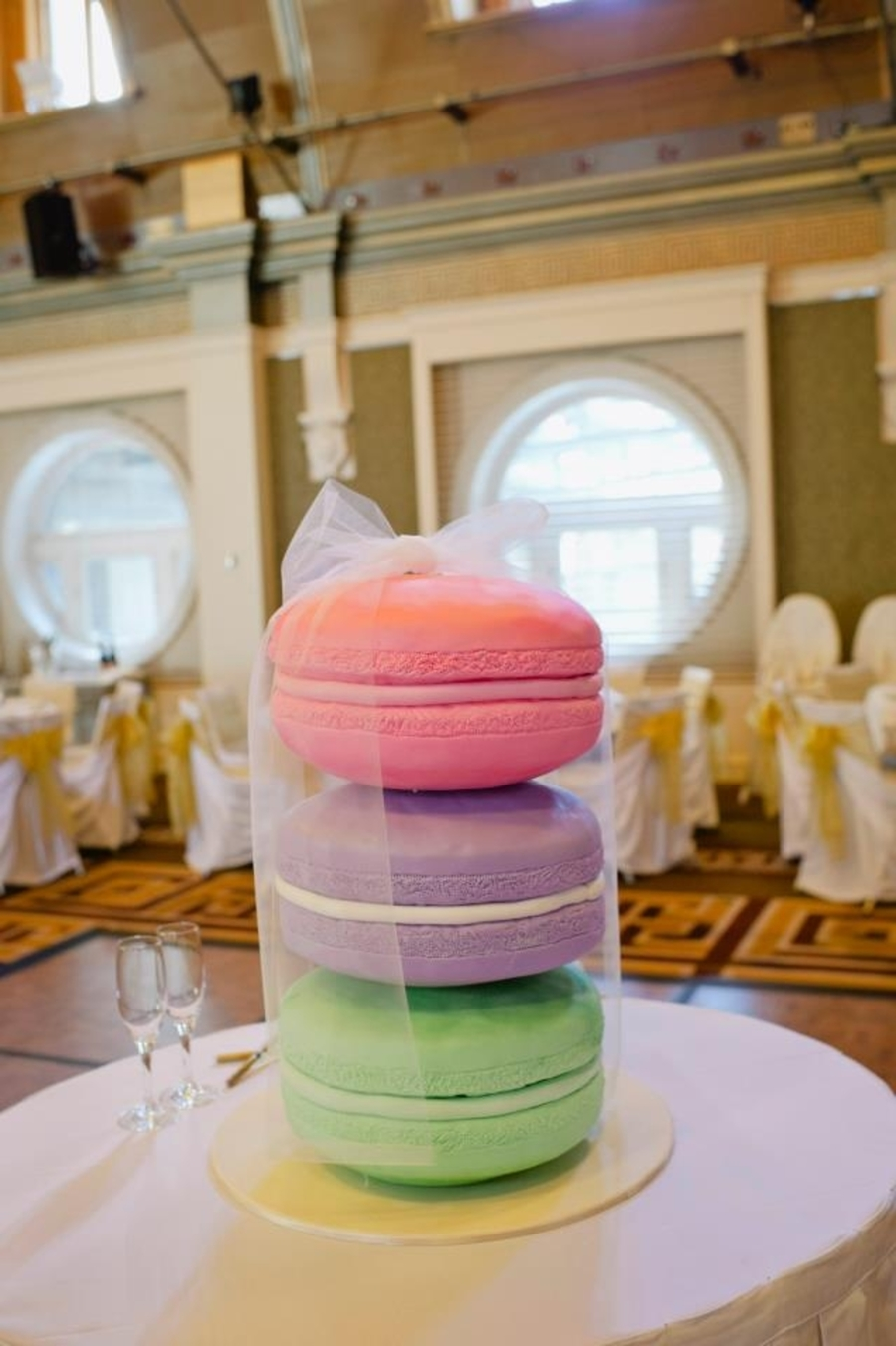 Giant Macaron Cake  on Cake Central