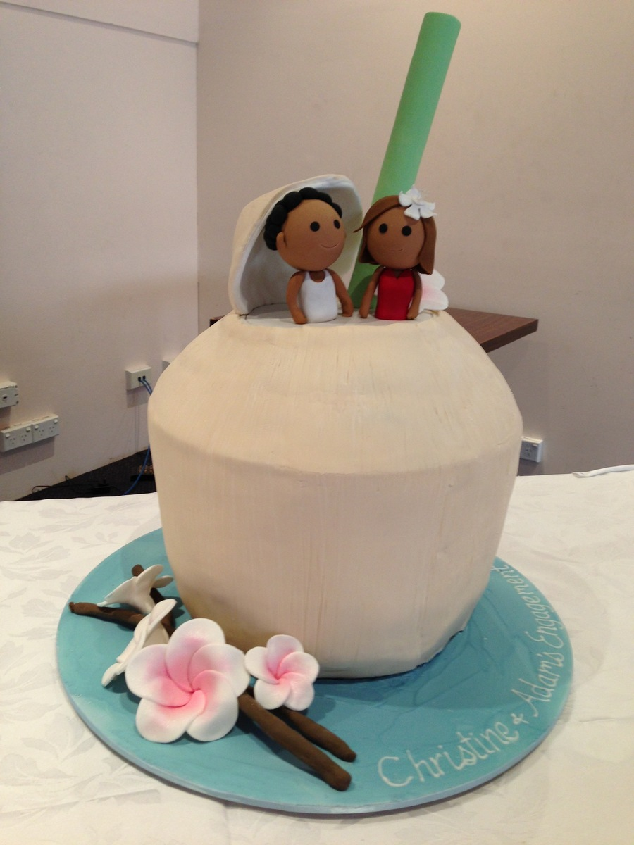 Giant Drinking Coconut Cake on Cake Central