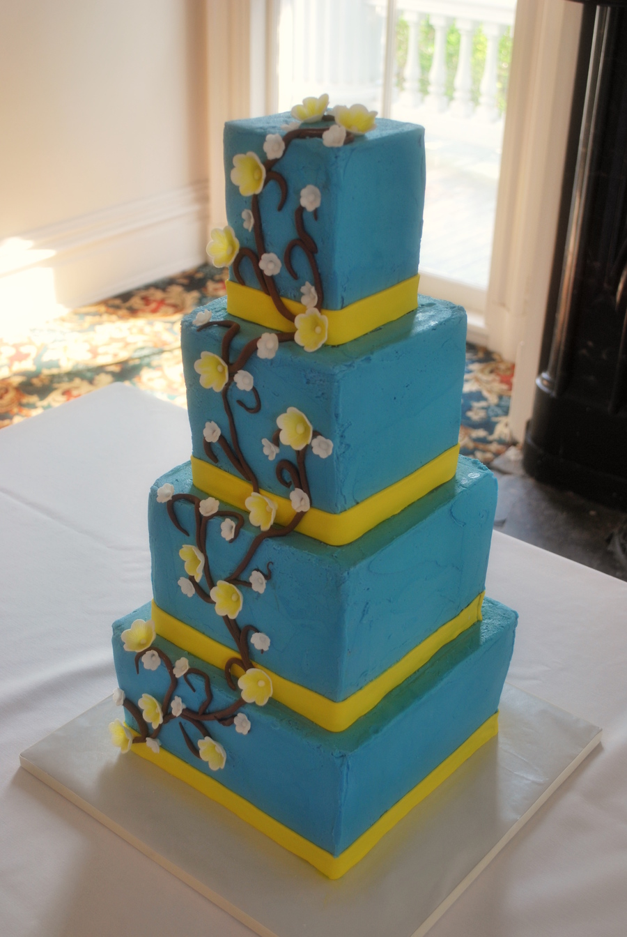 Buttercream Blue Squares on Cake Central