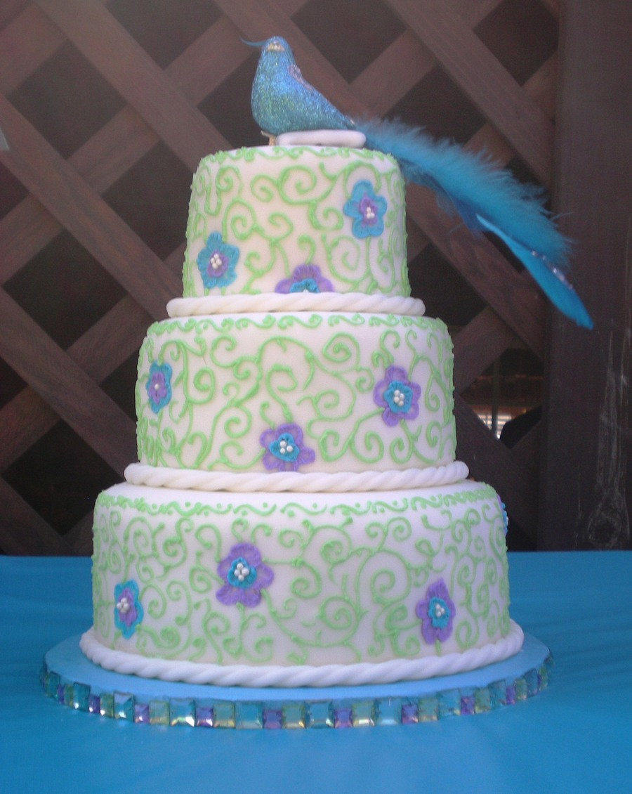 purple and lime green wedding cakes turquoise purple and lime green birthday cake 18862