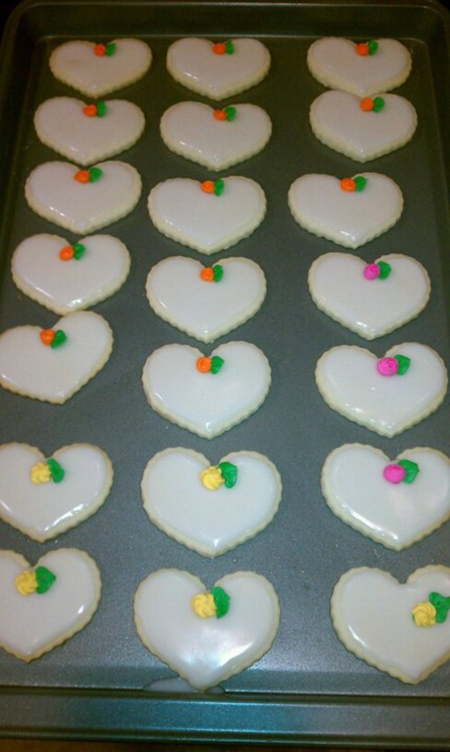 Wedding Heart Cookies on Cake Central