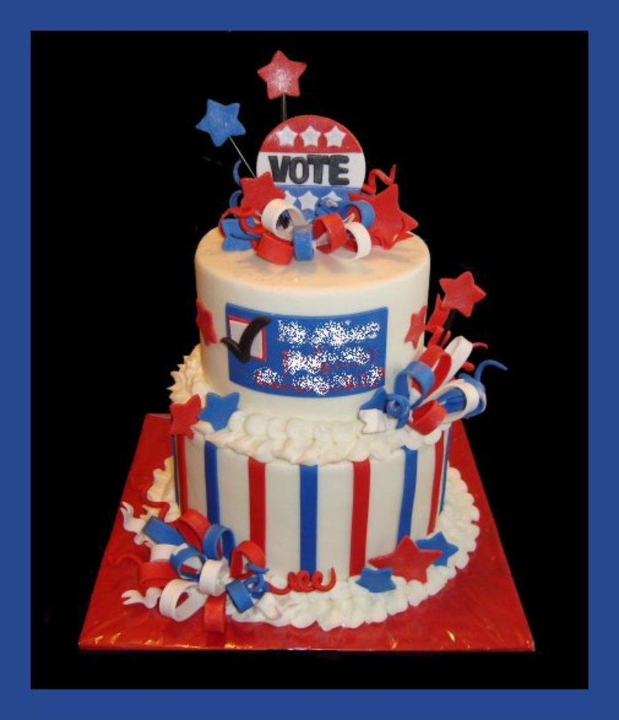 Election Day Cake on Cake Central