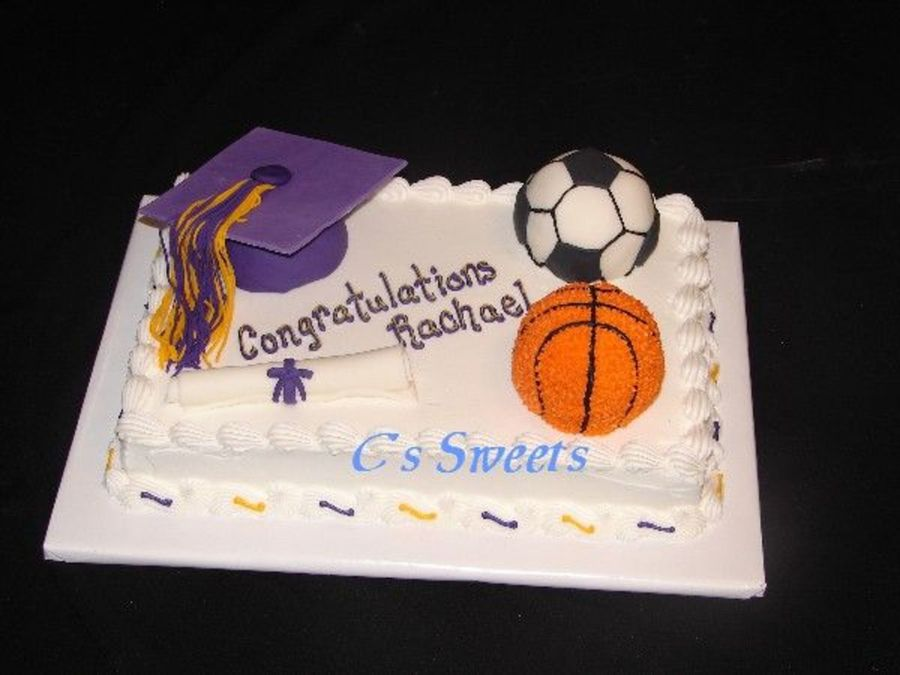 Sporty Graduation on Cake Central