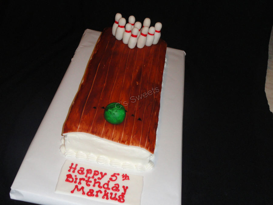 Bowling Alley on Cake Central
