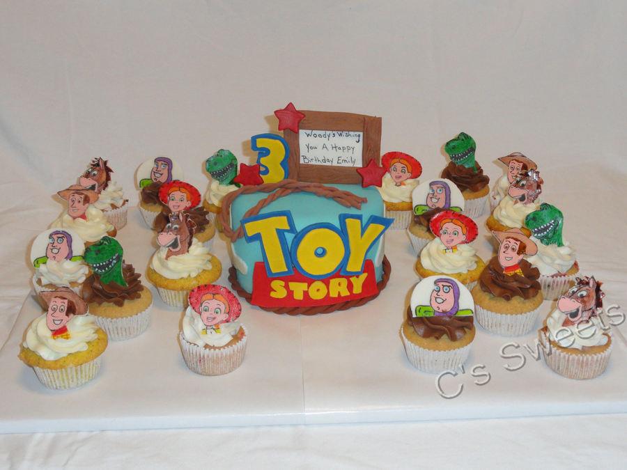 Toy Story Woody Jessie Buzz Lightyear Rex Bullseye Cakecentral Com