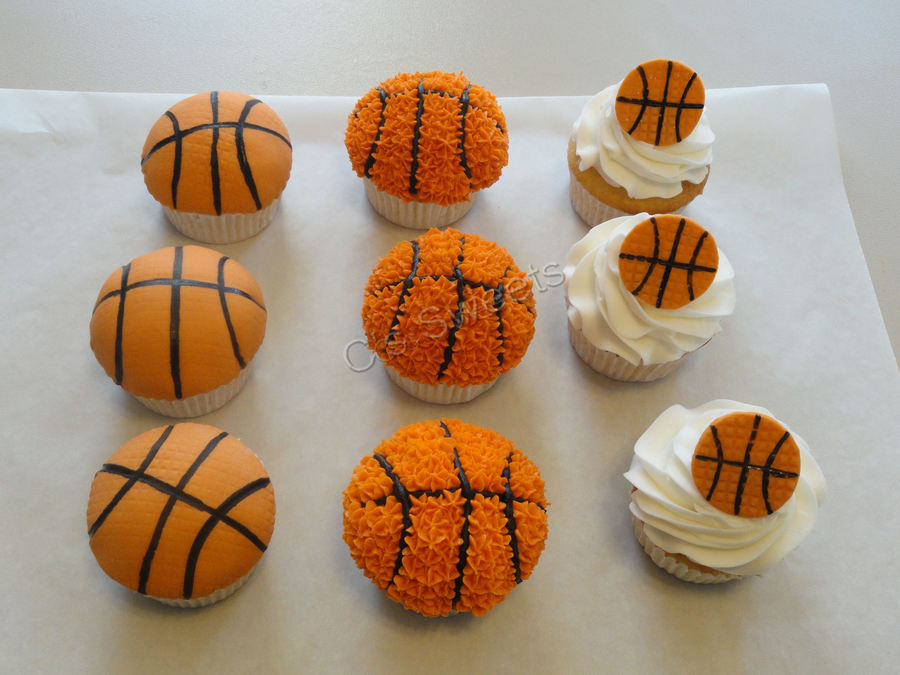 Basketball Cupcakes  on Cake Central