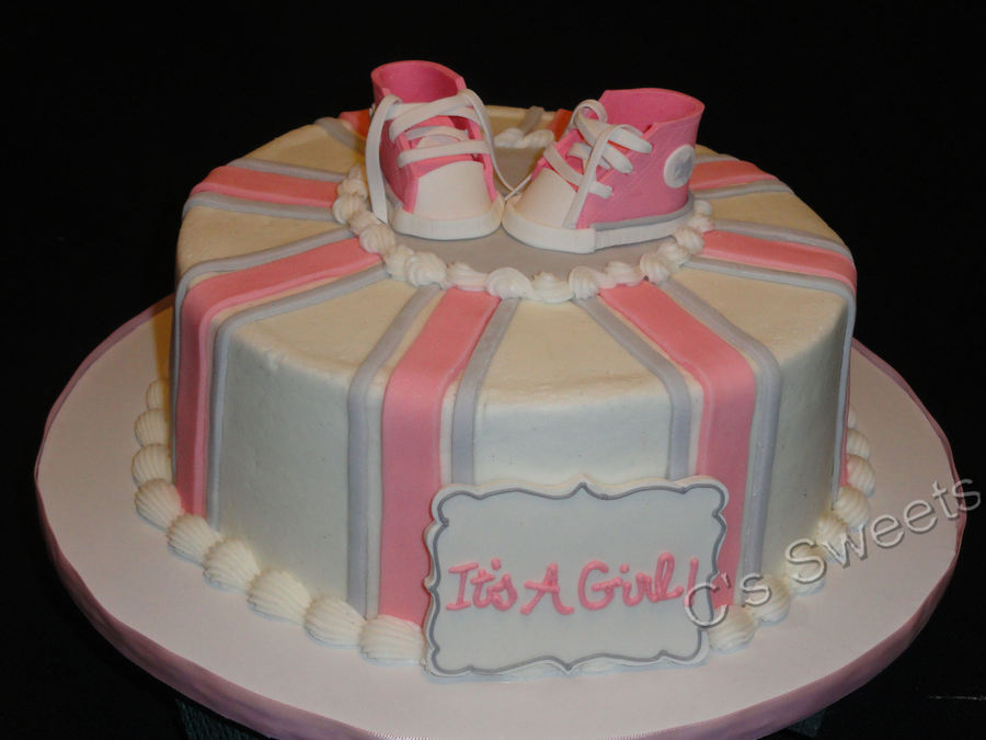 Baby Shower High Top Baby Shoes on Cake Central