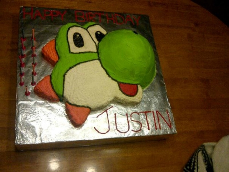 Superb Yoshi Birthday Cake Cakecentral Com Funny Birthday Cards Online Necthendildamsfinfo