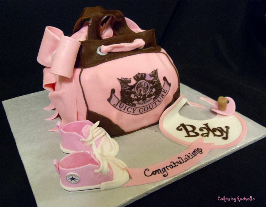 Juicy Diaper Bag And Converse Baby Shoes on Cake Central