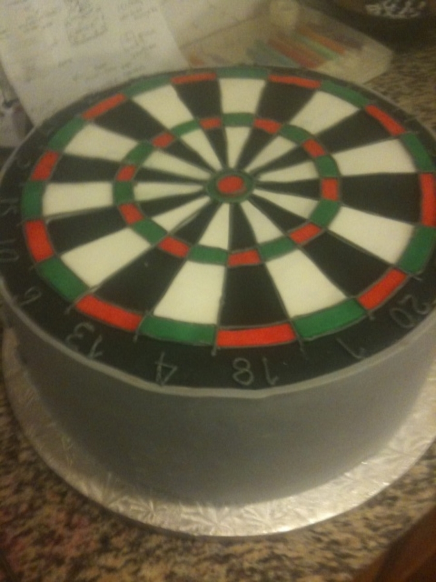 Dart Board on Cake Central