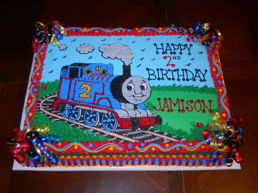 Train Birthday Sheet Cake
