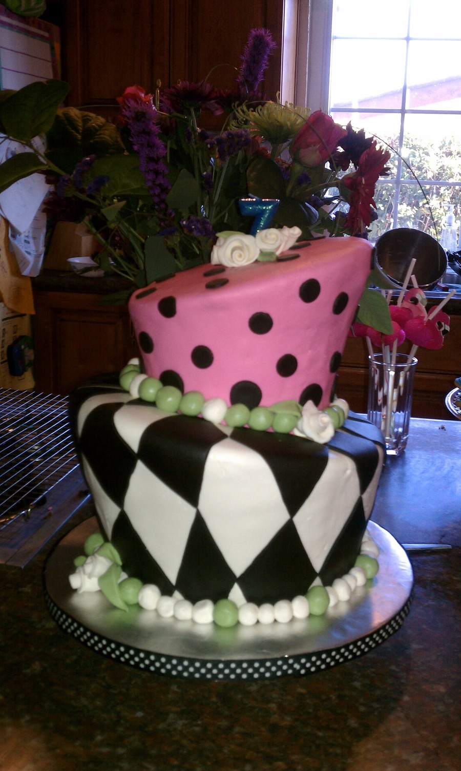 Topsy Turvy Cake For Mad Hatter Tea Party Birthday Cakecentral