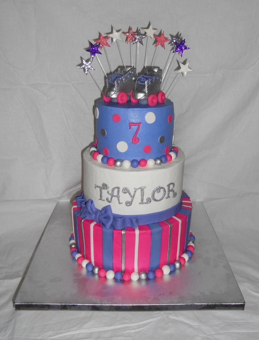 Roller Skating Birthday Cakecentral Com