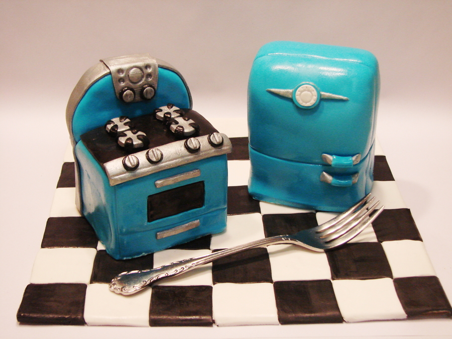 Retro Kitchen Cakelets on Cake Central