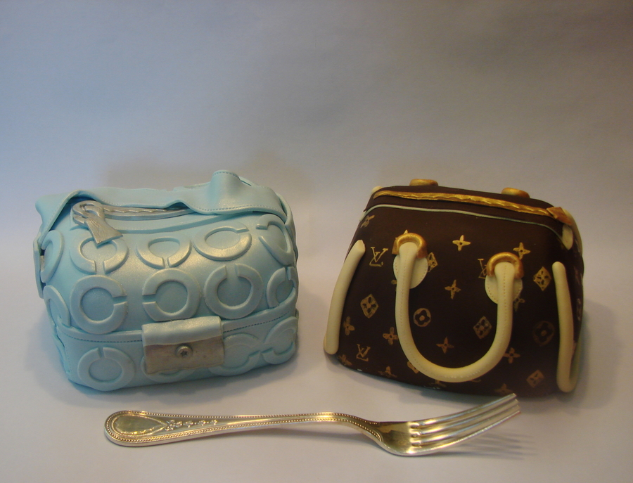 Chanel And Lv Bag Cakelets on Cake Central