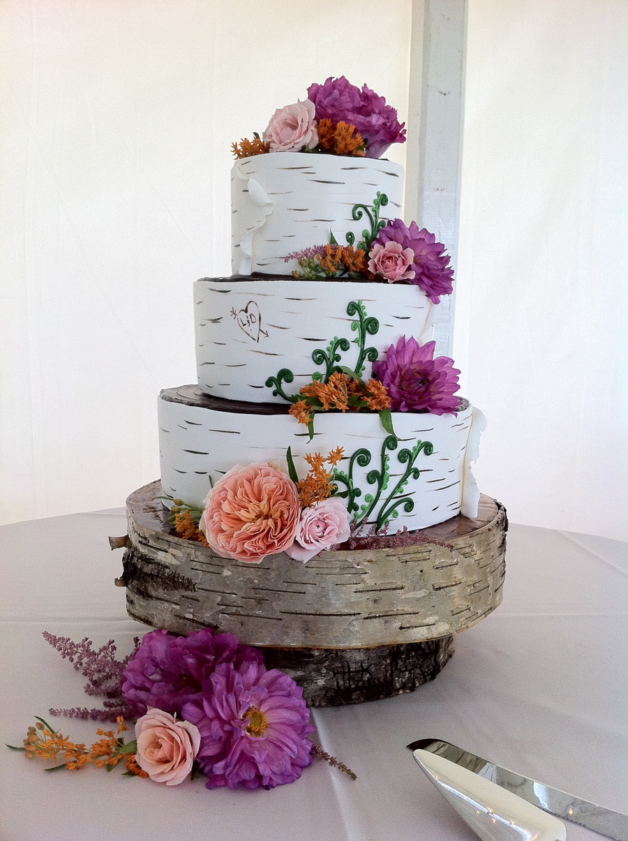 Birch Tree Wedding Cakecentral Com