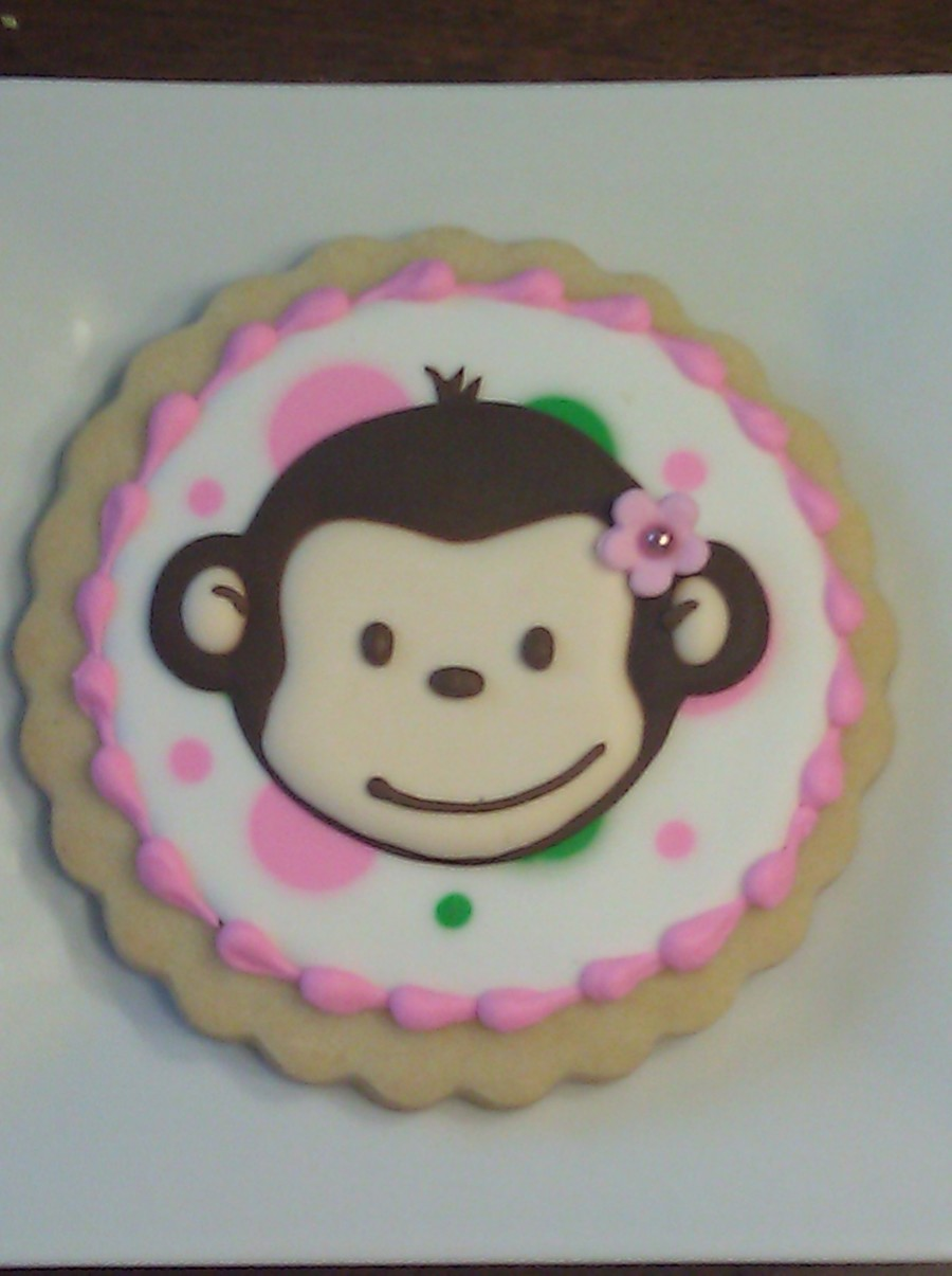 Pink Mod Monkey Cookie Cakecentral Com
