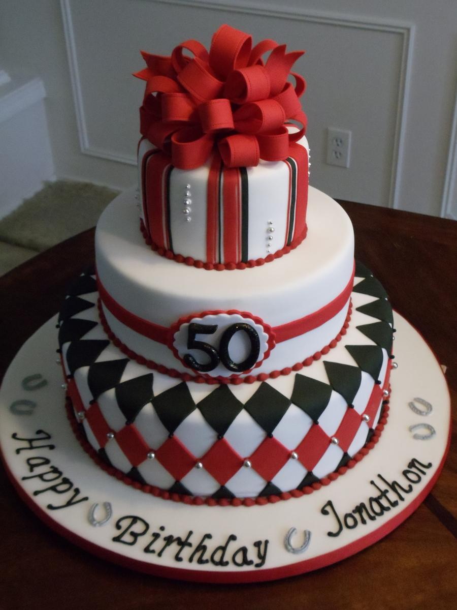 Horse Racing Silks Inspired 50th Birthday Cake