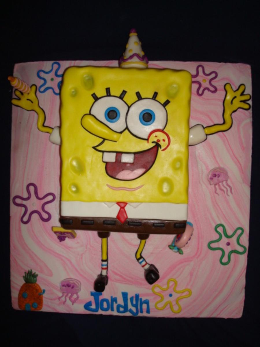Spongebob Birthday For A Girl Cakecentral Com