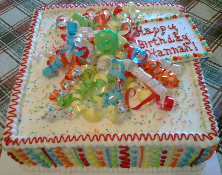 Fabulous Square Birthday Cake For 9 Yr Old Cakecentral Com Funny Birthday Cards Online Elaedamsfinfo
