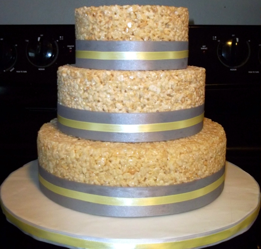 Krispy Treat Grooms Cake on Cake Central