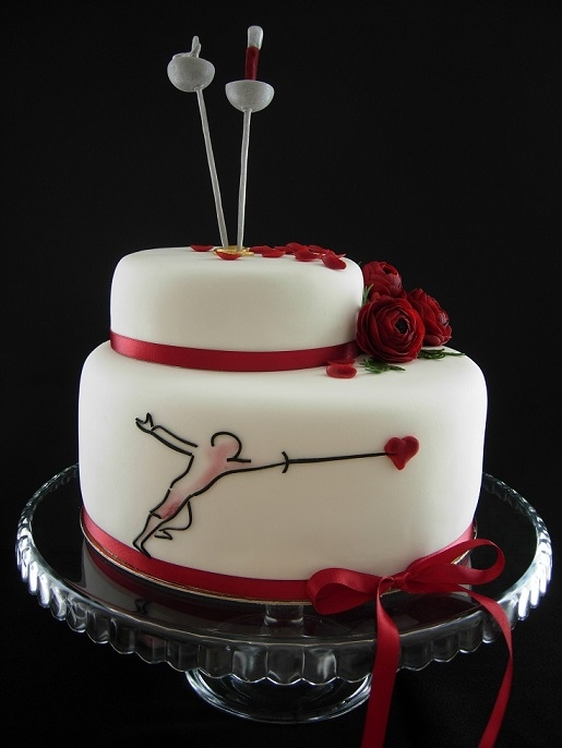 Fencing Wedding Cake Cakecentral Com