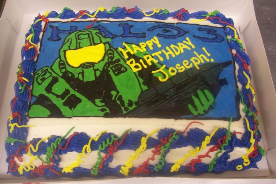 Halo 3 Masterchief on Cake Central