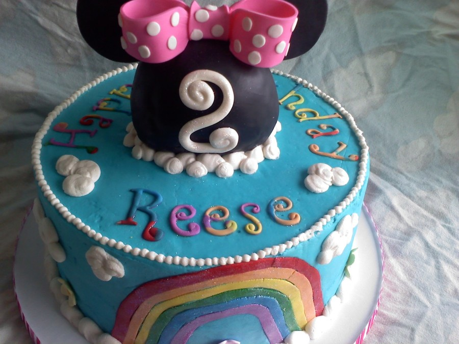 Minnie's Rainbow on Cake Central