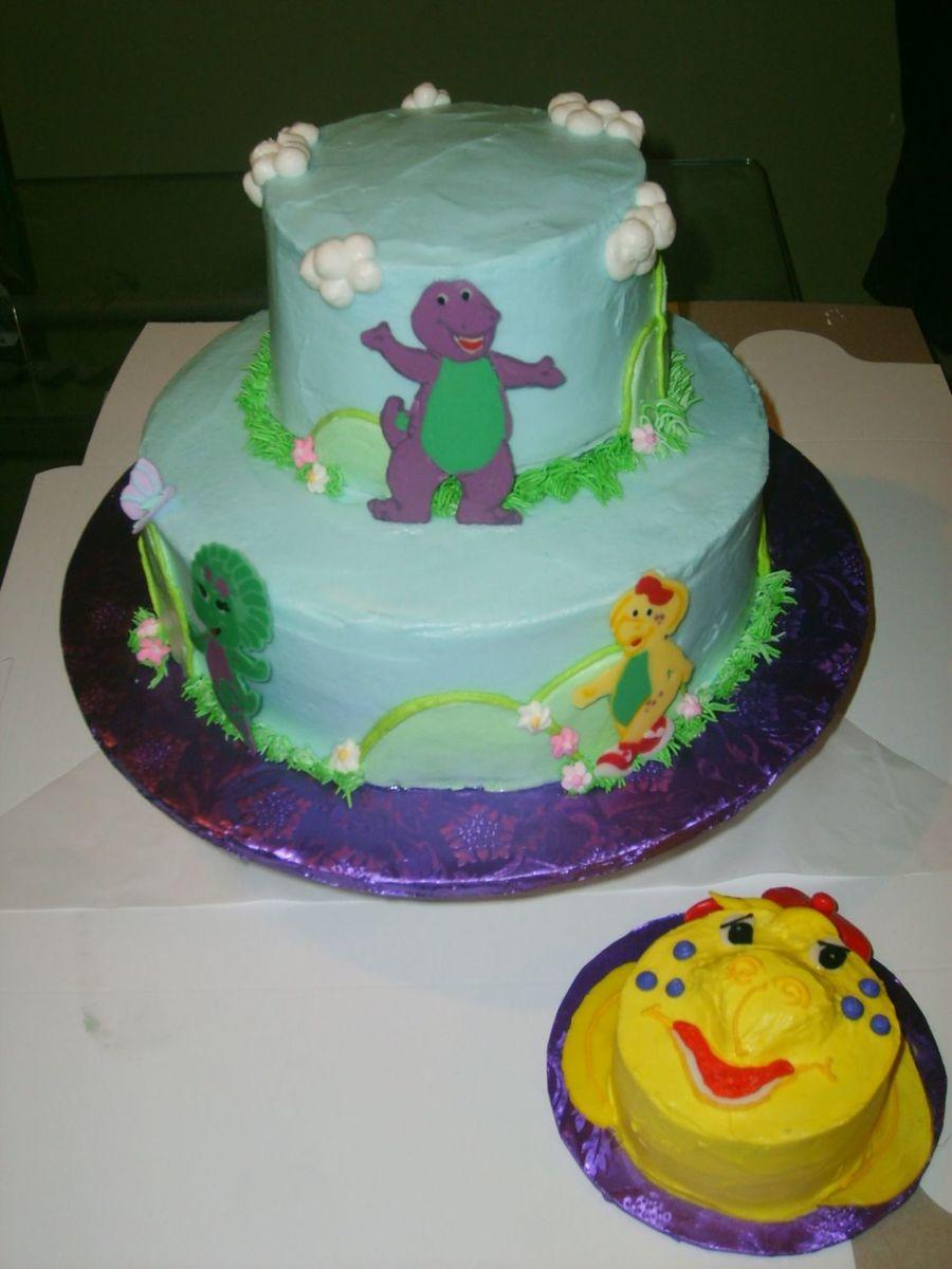 Bj S Cake Decoration Packet : Barney & Friends - Bj Smash Cake - CakeCentral.com
