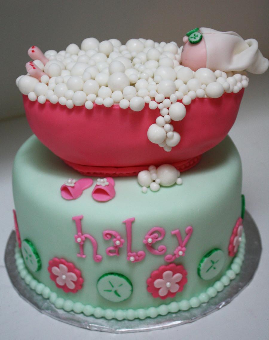 Spa party bubble bath cake for Salon cake design