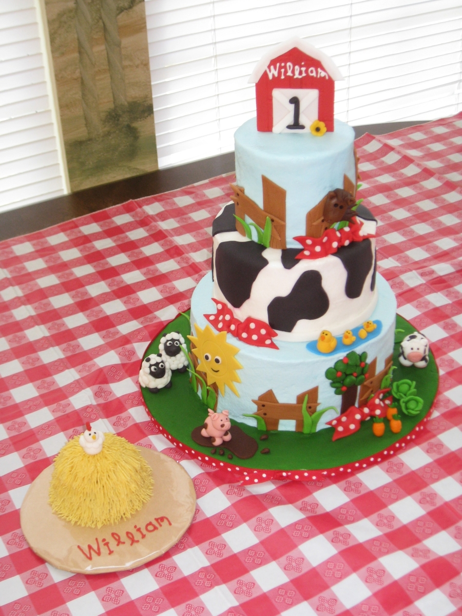 Farm 1St Birthday Cakes on Cake Central