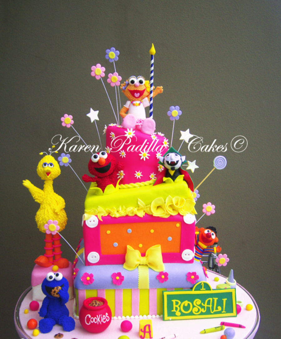 Sesame Street Cake/plaza Sesamo Cake on Cake Central